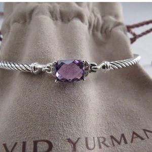 David Yurman Amethyst/Pave Diamond Bracelet
